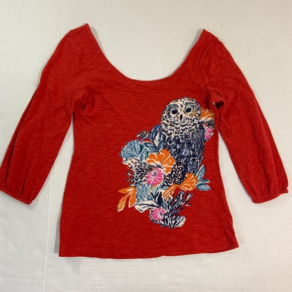 Anthropologie Tops - Anthropologie Postmark Owl Blouse Top XS